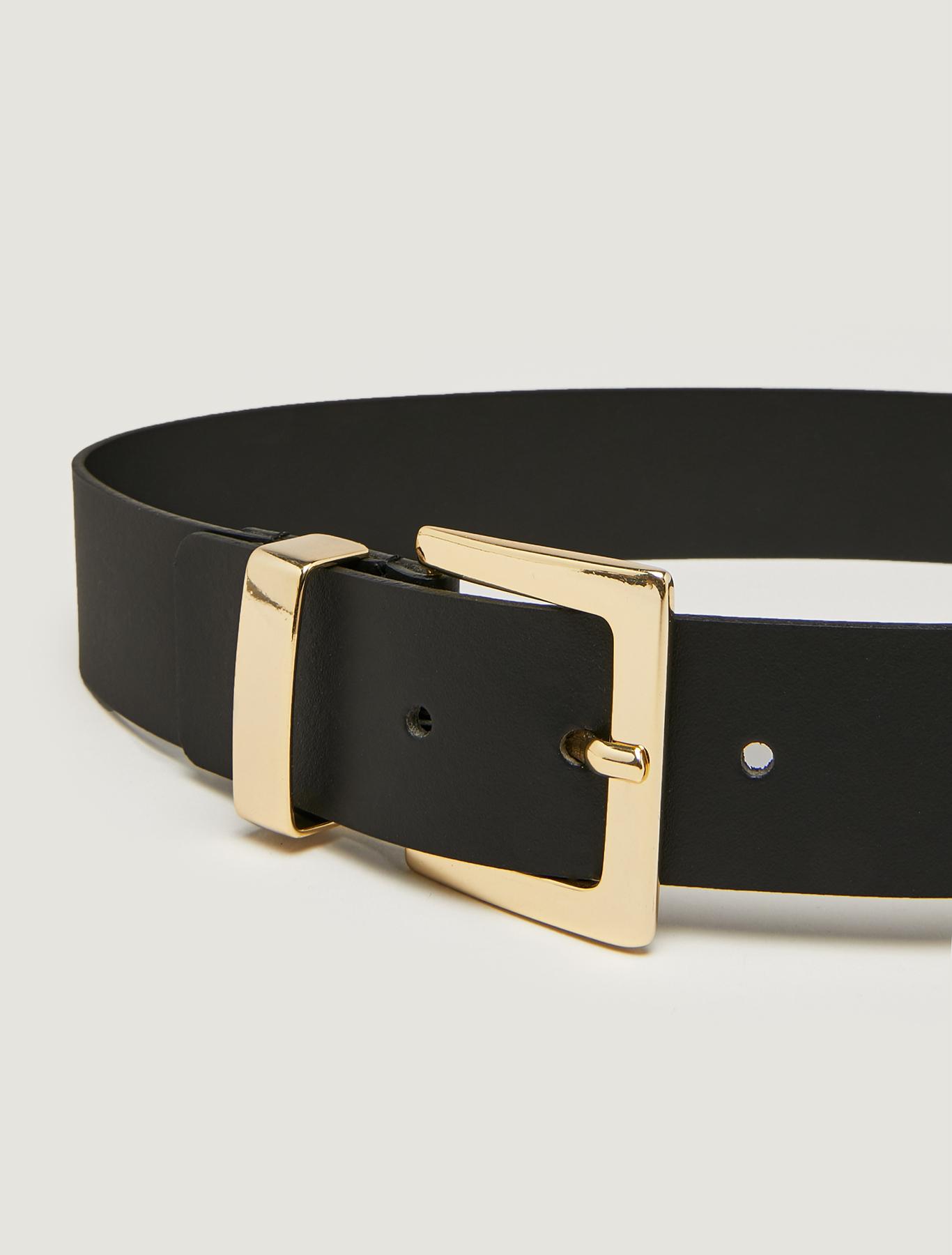 Belt with double buckle - black - pennyblack