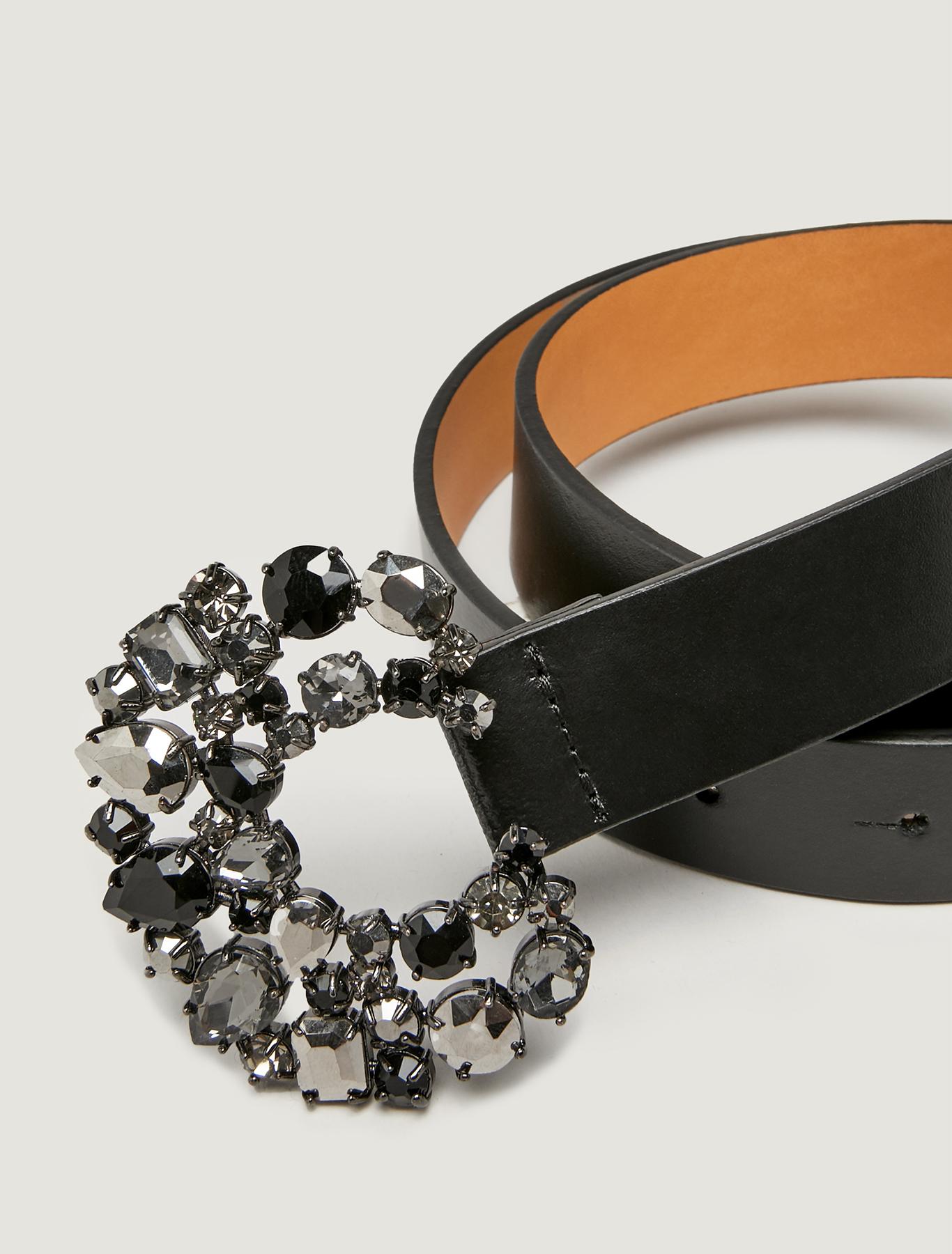 Belt with bijou buckle - black - pennyblack