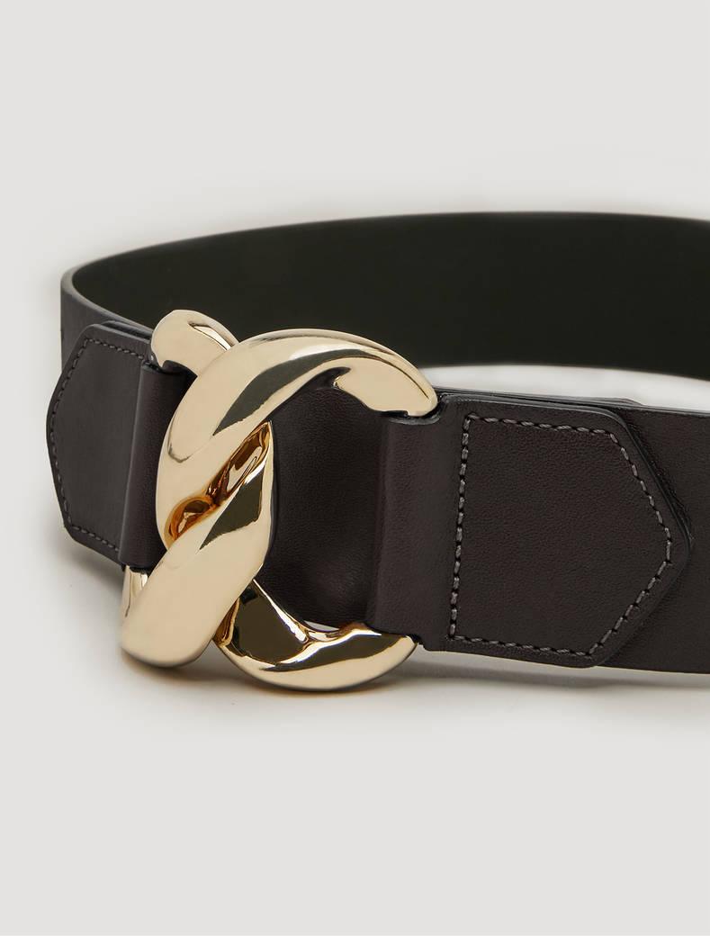 Belt with chain insert - black - pennyblack