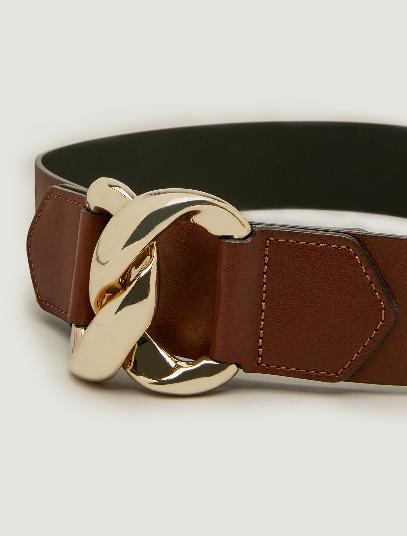 Belt with chain insert - tan - pennyblack