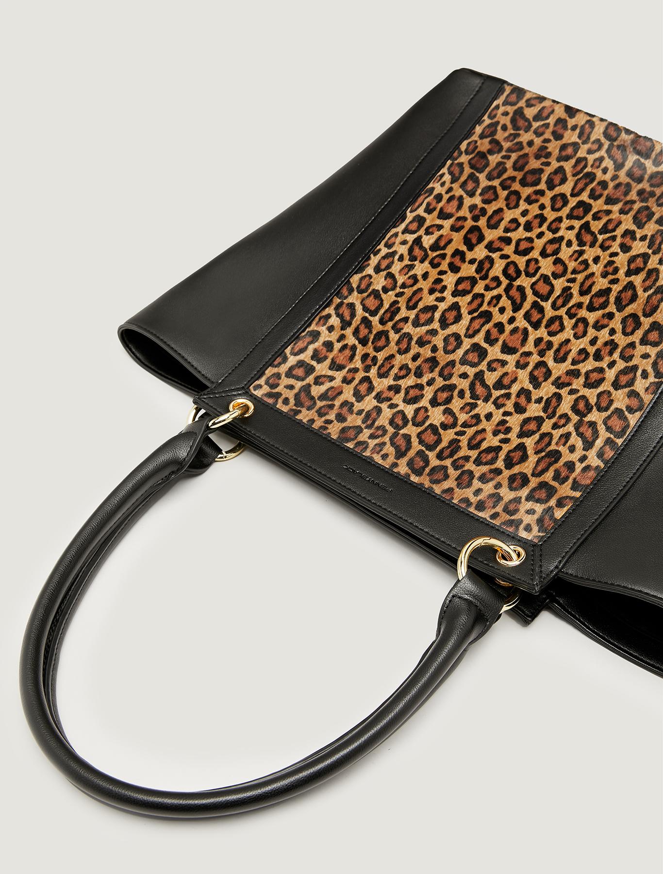 Shopping bag a trapezio - marrone - pennyblack