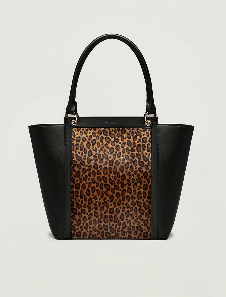 Trapeze shopping bag - brown - pennyblack