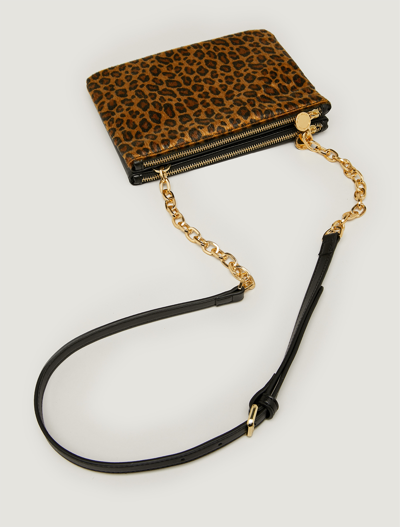 Double clutch bag with shoulder strap - brown - pennyblack