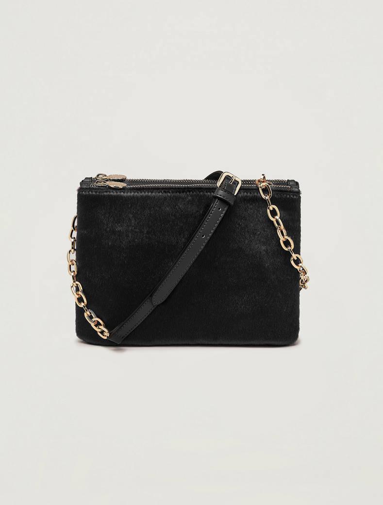 Double clutch bag with shoulder strap - black - pennyblack