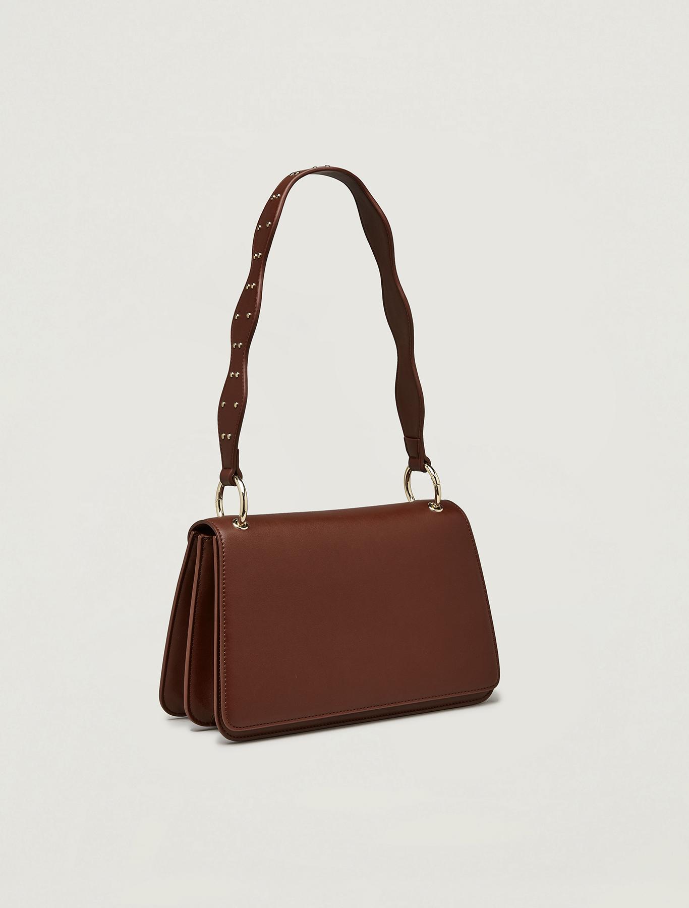 Bag with wavy shoulder strap - brown - pennyblack