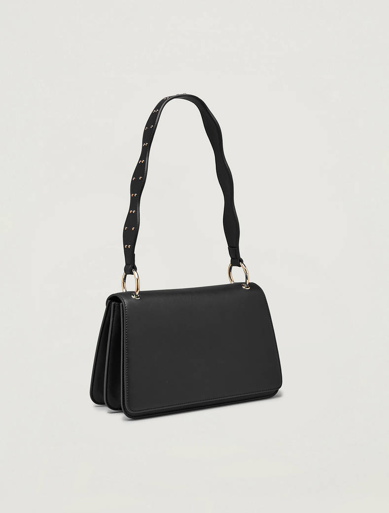 Bag with wavy shoulder strap - black - pennyblack