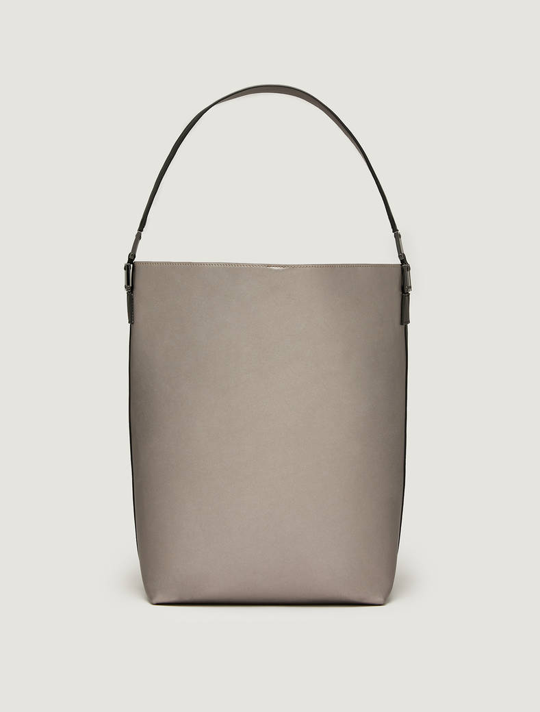 Maxi two-tone bucket bag - black - pennyblack