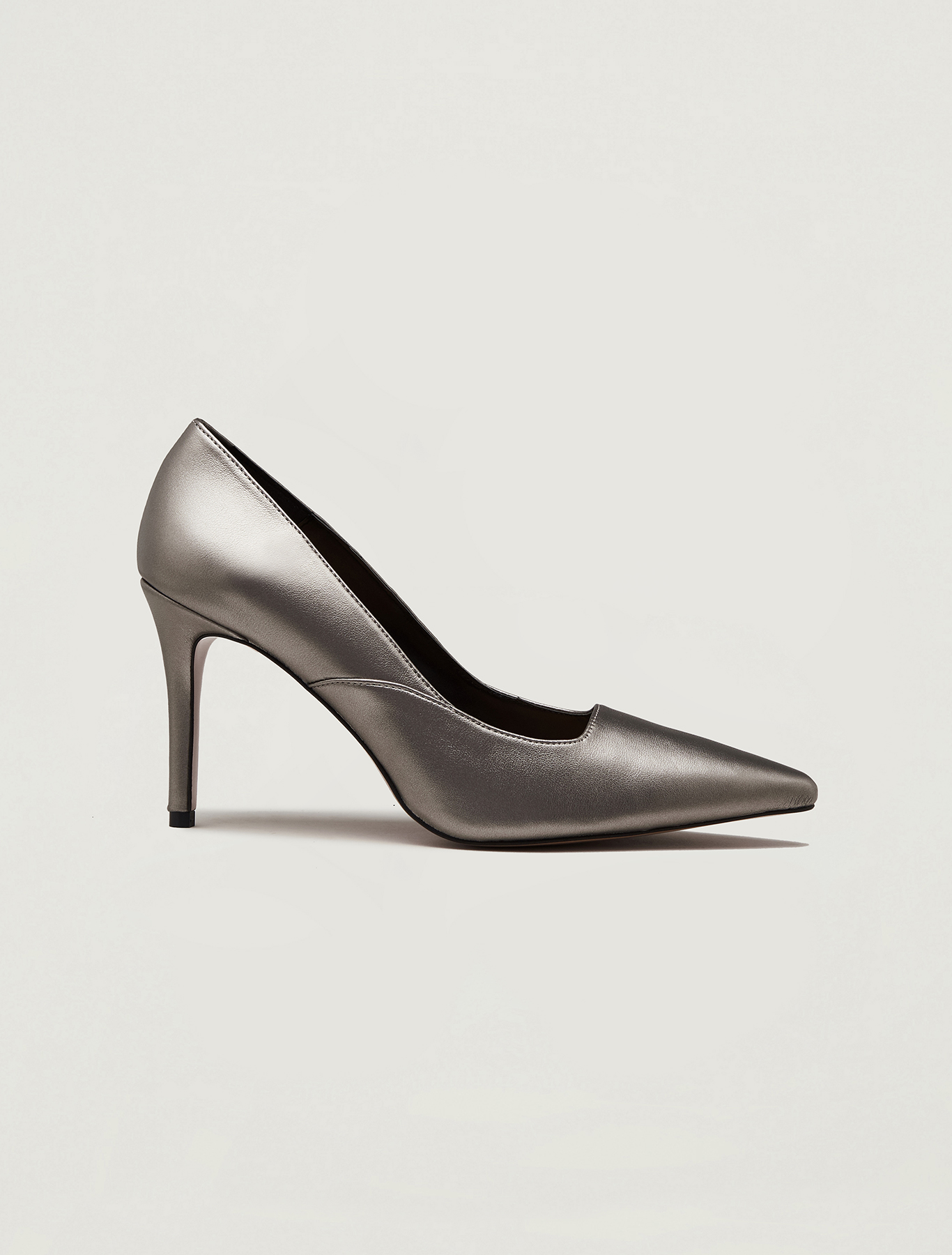 Metallic court shoes - dark grey - pennyblack