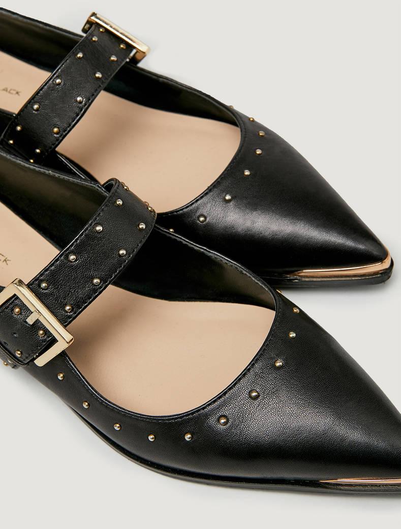 Ballet flats with straps - black - pennyblack