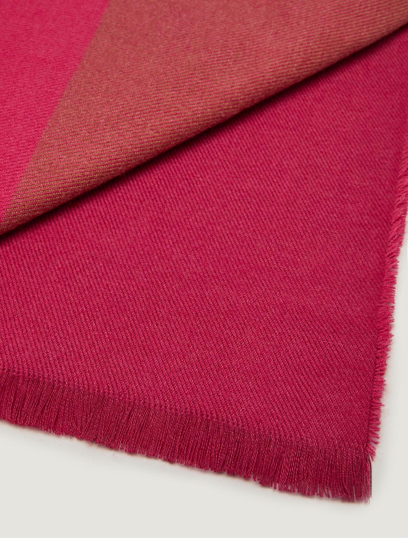 Colour block stole - fuchsia - pennyblack