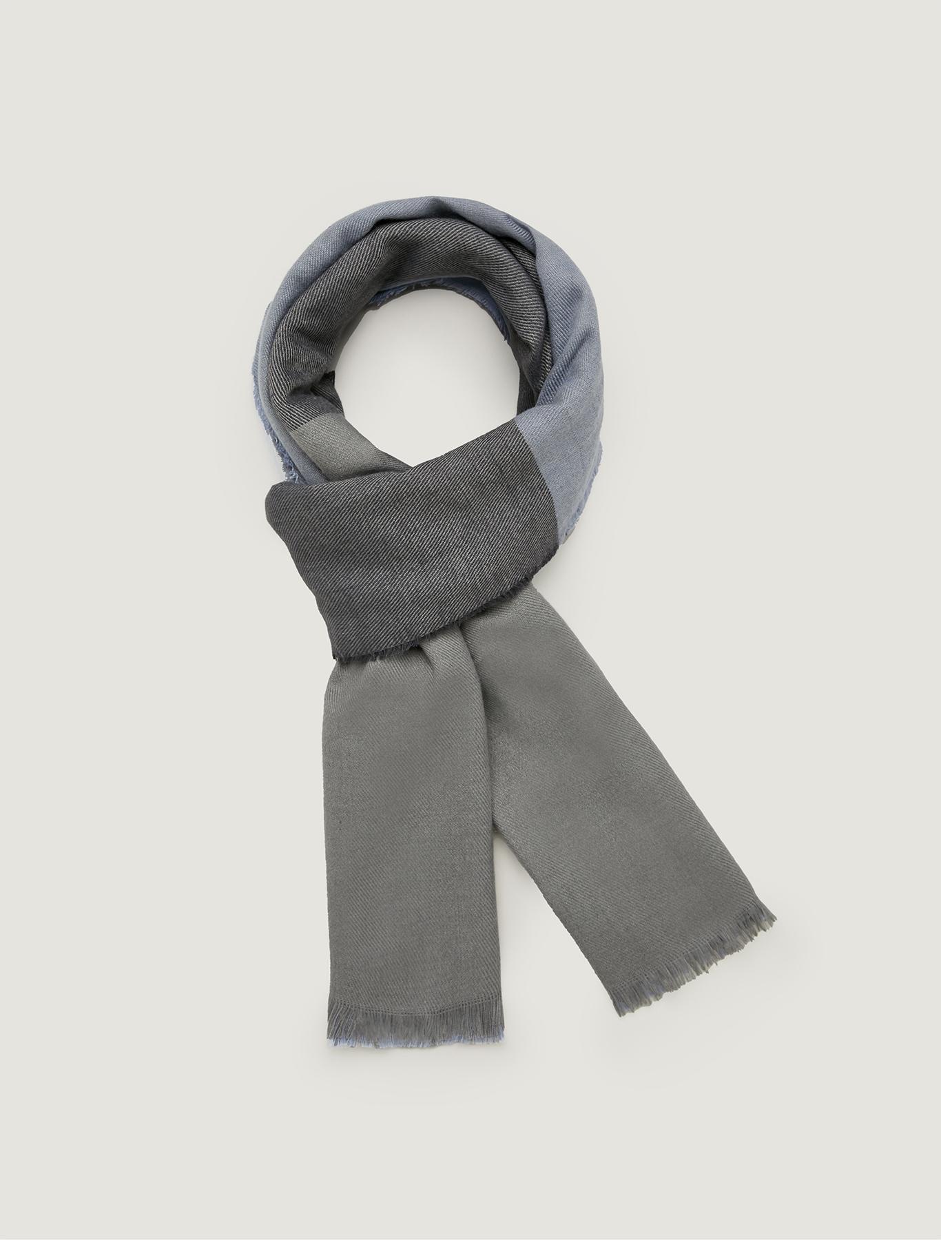 Colour block stole - pearl grey - pennyblack