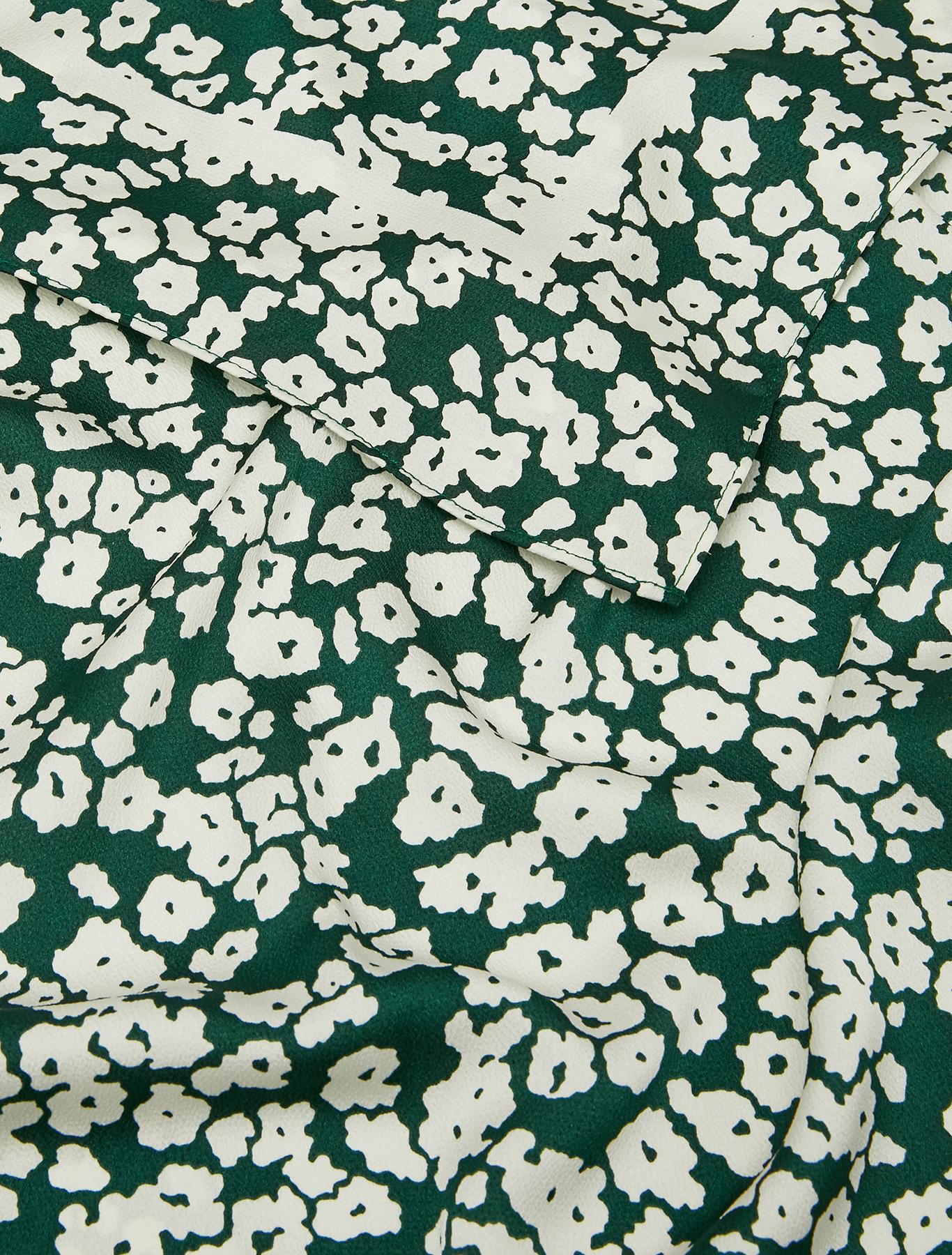 Fluid patterned stole - green - pennyblack