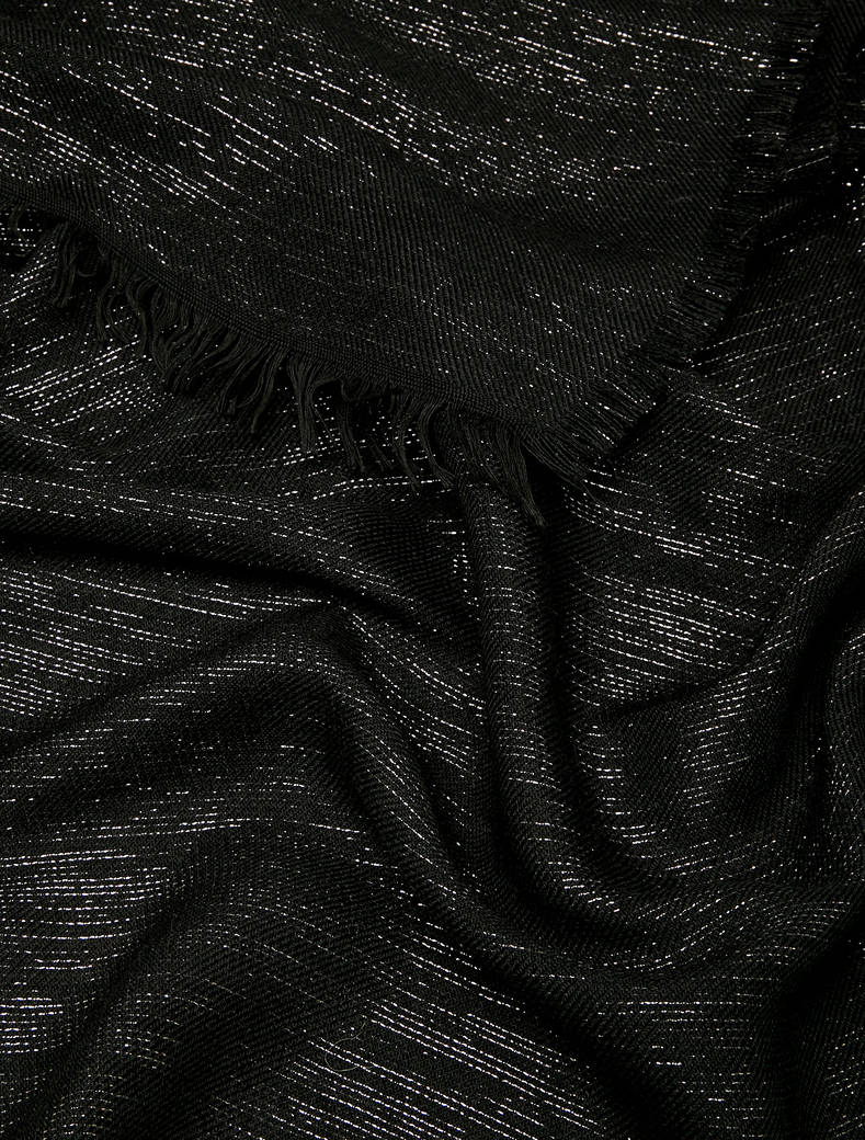 Stole in wool blend with lamé - black - pennyblack