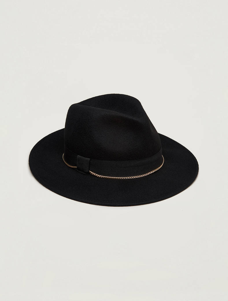 Cappello fedora in feltro - nero - pennyblack