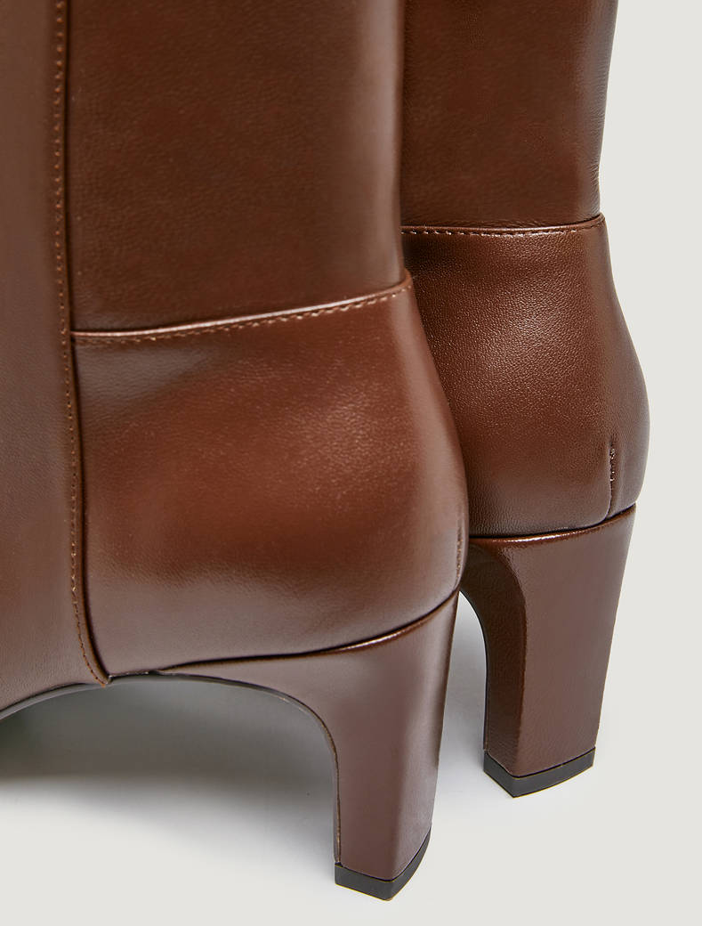 Leather ankle boots - tan - pennyblack