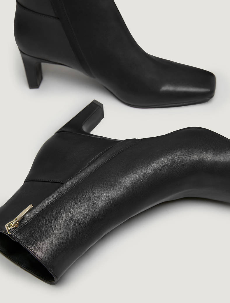 Leather ankle boots - black - pennyblack
